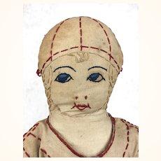 Vintage handmade folk art doll, 1920's