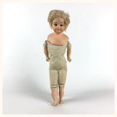 Antique small Schilling papier mache doll to dress