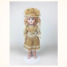 German Bisque head Weifel & Co. doll, mint in original box