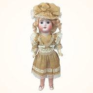 German Bisque head Weifel & Co. doll, mint in original box