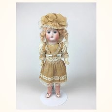 German Bisque head girl doll, Weifel and Co., mint in original box