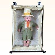 Vintage Miniature ethnic composition doll, MIB