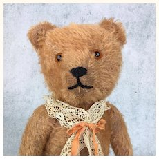 Mohair teddy bear with apricot fur