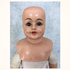 Schilling papier mache doll with working voice box needs restoration