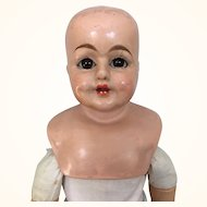 Schilling papier mache doll with working voice box needs restoration