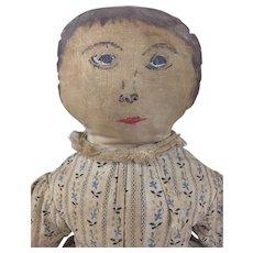 Handmade handpainted folk art cloth doll