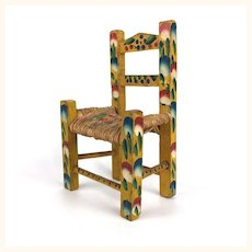 Vintage miniature Mexican doll chair