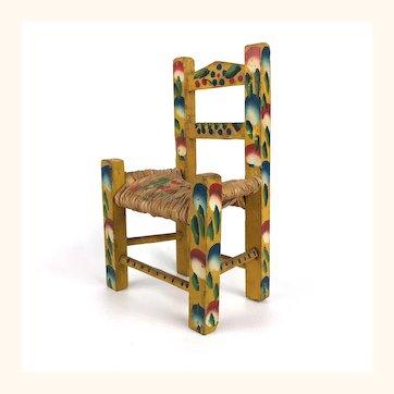 Vintage miniature Mexican doll chair