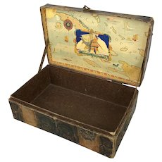 Old doll trunk full of pirate character