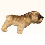 Vintage Mohair toy bulldog for doll's companion