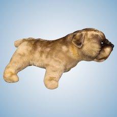 Vintage Mohair toy bulldog for doll's companion