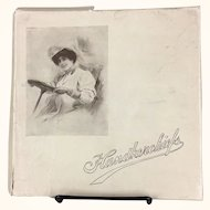 Handkerchief box with Gibson Girl and hankies