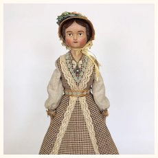 Miss Edwina Tippen, artist lady doll by Lora Soling