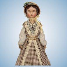 Miss Edwina Tippen, artist lady doll by Lora Soling