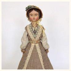 Edwina Tippen, an artist papier mache doll by Lora Soling