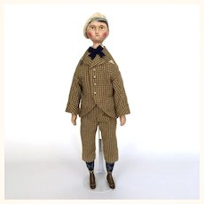 Gaspard Sorrel, an artist papier mache and cloth doll by Lora Soling
