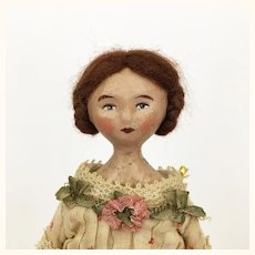 Miss Nessie Parsons, a papier mache artist doll by Lora Soling