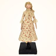 Clarissa Welbourne, hand made folk art doll by Lora Soling