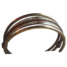 Kalevala Koru Modernist Mid Century Bronze Bracelet Finland