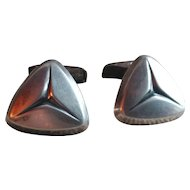 Kupittaan Kulta Modernist Sterling Silver Whale Back Cufflinks