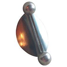 Kupittaan Kulta 925 Sterling Silver Modernist Brooch/Pin