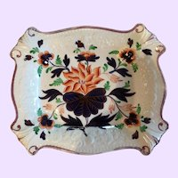 Antique Gaudy Welsh Decorative Dish