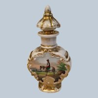 Antique French Jacob Petit Hand Painted Scent Bottle