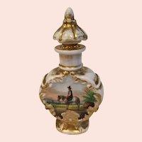Antique French Jacob Petit Hand Painted Scent Bottle