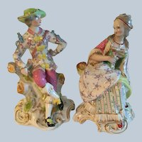 Pair of Antique French Jacob Petit Figurines