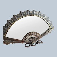 Amazing Fan Shaped Antique Vanity Mirror