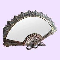 Amazing Fan Shaped Antique Vanity Mirror