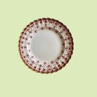 """Spode Fleur de Lys 8"""" Luncheon Plate Red-Multiple Pieces"""
