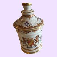 Antique 19th C. Samson Armorial Lidded Jar