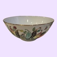 Large Vintage Gump's San Francisco Hong Kong Centerpiece Bowl
