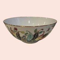 Large Vintage Gump's San Francisco Hong Kong Centerpiece Bowl