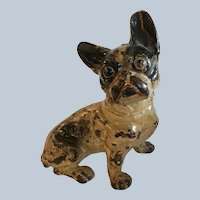 Adorable Antique Cast Iron French Bulldog Doorstop