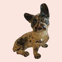 Adorable Antique Cast Iron French Bulldog Doorstop