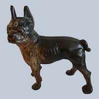 Antique Cast Iron Boston or French Terrier Door Stop