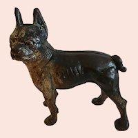 Antique Cast Iron Boston or French Terrier Door Stop