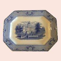 Antique English Ridgway Blue & White Transferware Platter