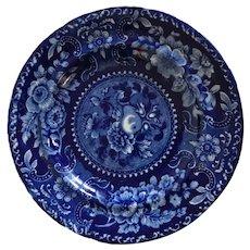 Antique English Joseph Stubbs Longport Blue & White Staffordshire Plate