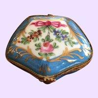 Antique Continental Hand Painted Porcelain Trinket Box