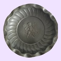 Charming Vintage French Style Pan with Ruffled Edge and Cupid Putti Center