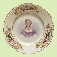 Antique Sevres Cabinet Plate Madame Du Barry