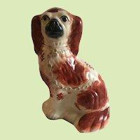 Antique English Staffordshire Spaniel, 19th C.
