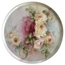 Stunning Antique Haviland Limoges Hand Painted Vanity Tray