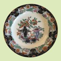 Antique English Mason's Ashworth Plate, Imari Palette
