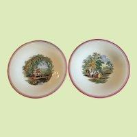 Pair of Antique English 19th C. G.L. Ashworth Plates