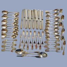 Christofle Silverplate Vendome Service for 12, 63 Pieces