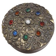 Vintage Compact Studded with Jewels